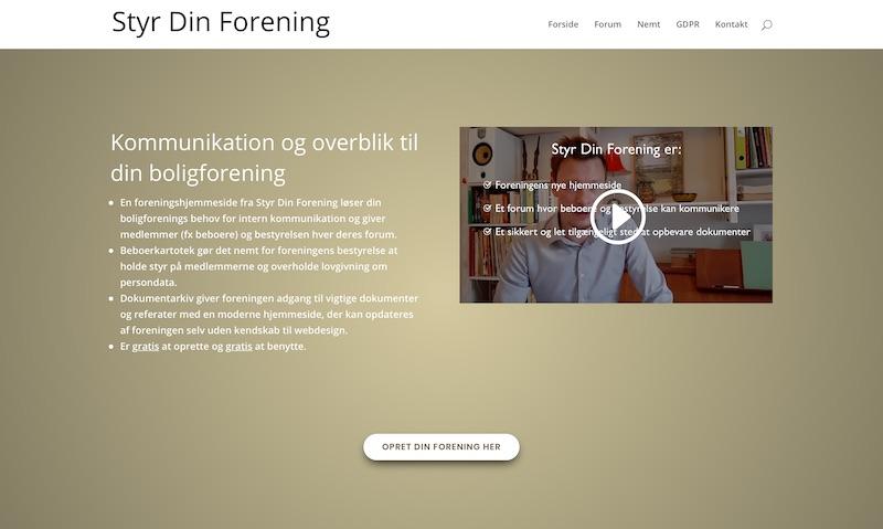 Website Styrdinforening.dk